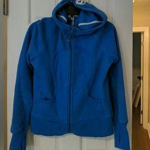 Lululemon Blue Signature Zip Up Hoodie sz 10
